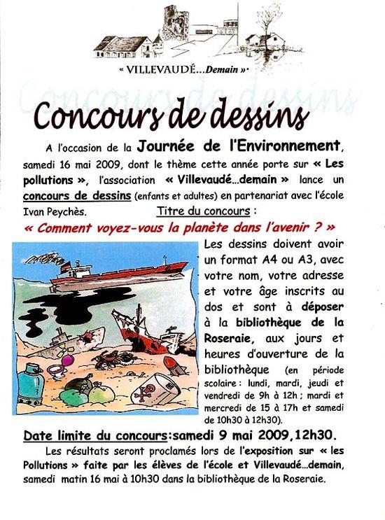 Concours dessin environnement 2009