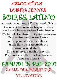 Affiche soirée latino