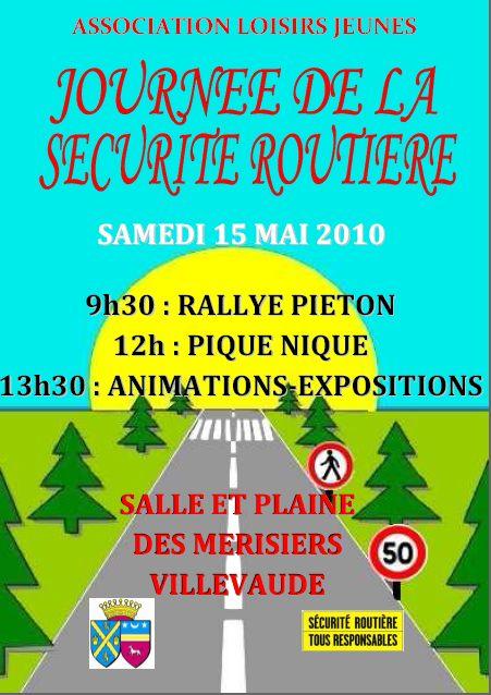 Affiche 15 mai 2010 Sécurité Routière capturée
