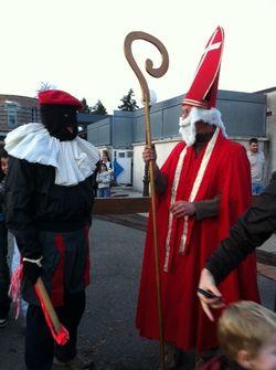 Saint Nicolas et père Fouettard