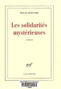 Solidarité mystérieuse 001