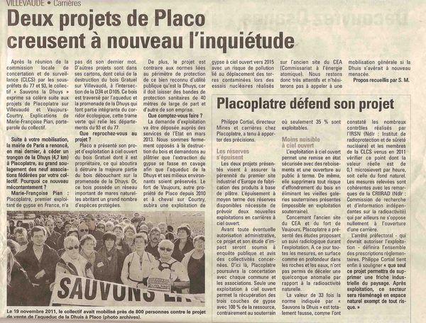 Article Placo dans La Marne-1