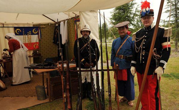 Tente de soldats du 4e régiement d'infanterie coloniale