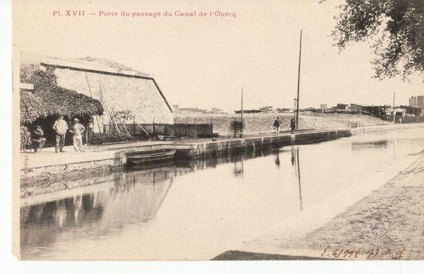 Porte passage canal de l'ourcq