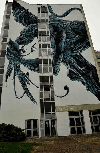 Fresque de l'artiste portugais Pantonio sur le bâtiment Fournier