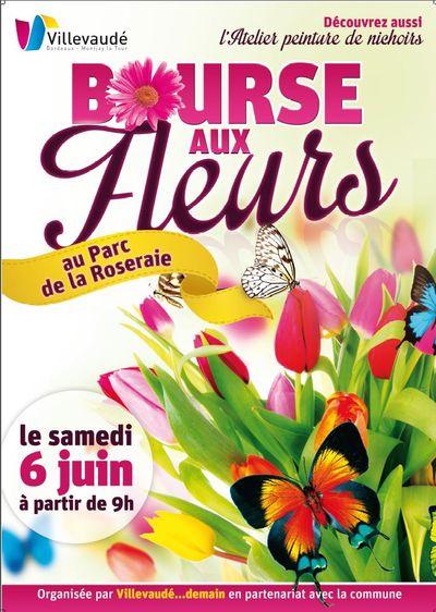 Affiche bourse aux fleurs