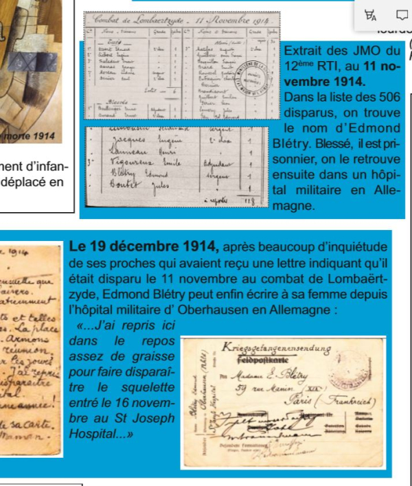 2bletry novembre 1914