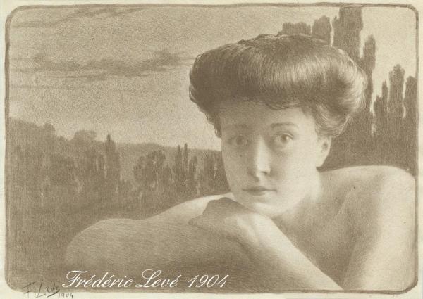 0Frederic_Louis_Leve_-_Portrait_de_Femme_-1904