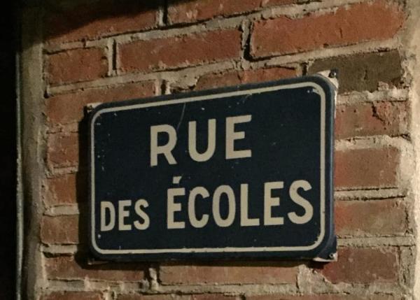 Rue écoles