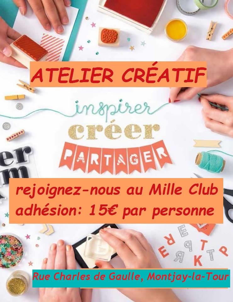 Atelier creatif inscriptions