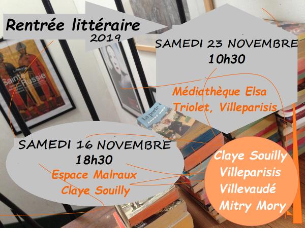 Affiche rentrée littéraire 2019
